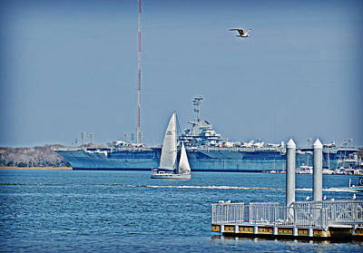 Photograph - Cruising Past The Yorktown by Linda Brown
