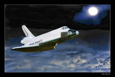 Photograph - Cruising Space Shuttle by Blake Richards