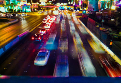 Art Print featuring the photograph Cruising The Strip by Alex Lapidus