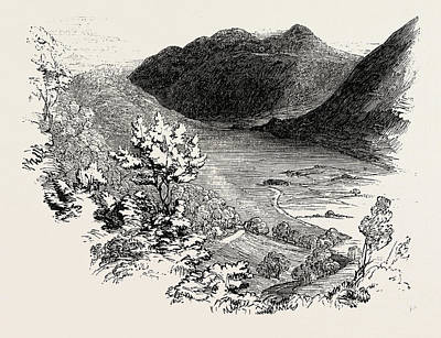 Aged Wood Drawing - Crummock Water, From Lanthwaite Woods, Lake District by English School
