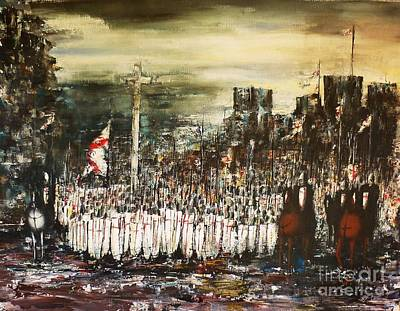 Knights Castle Mixed Media - Crusade by Kaye Miller-Dewing