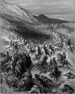 Saladin Painting - Crusaders Surrounded By Saladin S Army 1877 by MotionAge Designs