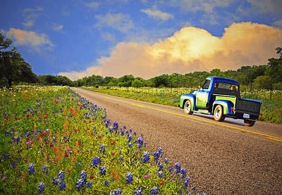Crusin' The Hill Country In Spring Art Print