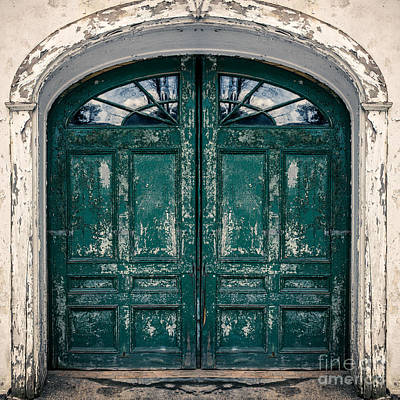 Peeling Painted Wood Wall Art - Photograph - Behind The Green Door by Edward Fielding