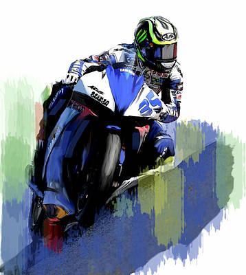 Painting - Crutch Cal Crutchlow by Iconic Images Art Gallery David Pucciarelli