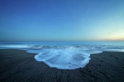 Crux Constellation Over Coastal Waters Print by Luis Argerich