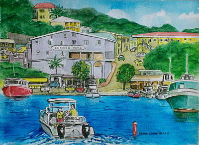 Cruz Bay St. Johns Virgin Islands Art Print