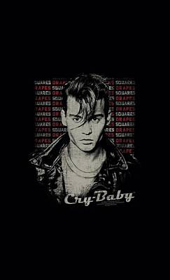 Johnny Depp Digital Art - Cry Baby - Drapes And Squares by Brand A