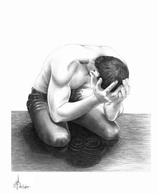 Tears Drawing - Cry Me A River by Murphy Elliott