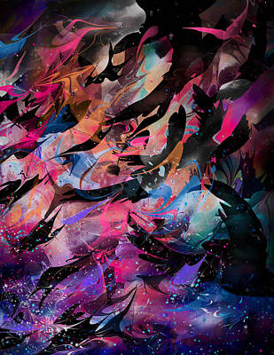 Lightning Digital Art - Cry Of The Birds by Rachel Christine Nowicki