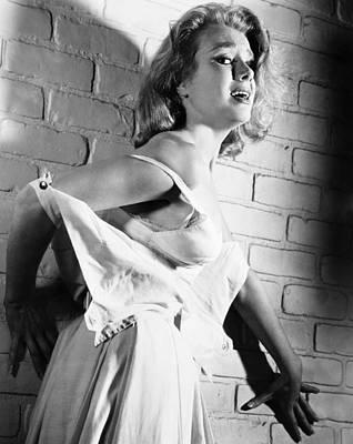 Torn Clothing Photograph - Cry Terror, Inger Stevens, 1958 by Everett