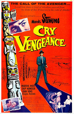1954 Movies Photograph - Cry Vengeance, Us Poster,  Mark Stevens by Everett