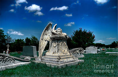 Graveyard Photograph - Crying Angel by Hilton Barlow