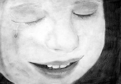 Crying Drawing - Crying Baby by Dianovich Diana