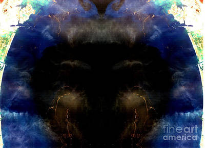 Phytoplankton Digital Art - Crying Black Baby Abstract Earth Art by Animated Sentiments