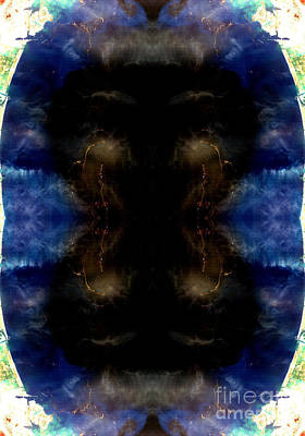 Phytoplankton Digital Art - Crying Black Baby Reflection Abstract Earth Art by Animated Sentiments