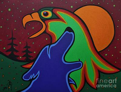 Crying Painting - Crying For Earth Mother by Jim Oskineegish
