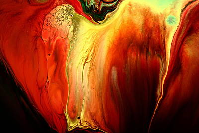 Painting - Crying For Love Modern Abstract Art By Kredart by Serg Wiaderny