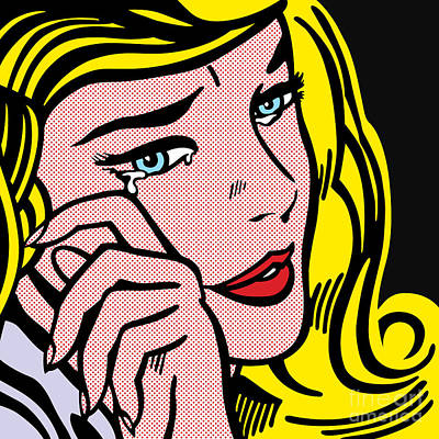 Pop Art Royalty-Free and Rights-Managed Images - Crying-girl No.1 by Bobbi Freelance