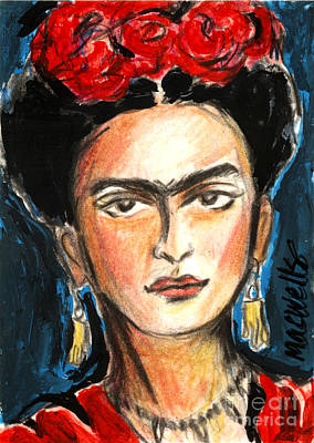 Kahlo Mixed Media - Crying On The Inside by Mary C Wells