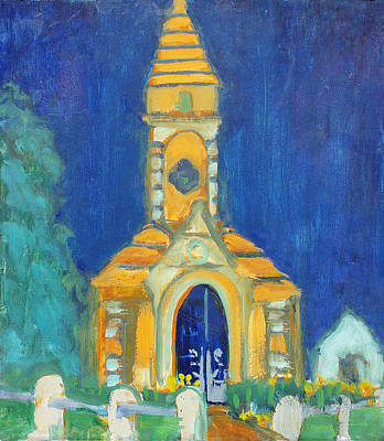 Painting - Crypt At Historic Oakland Cemetery Atlanta Georgia by Anita Dale Livaditis