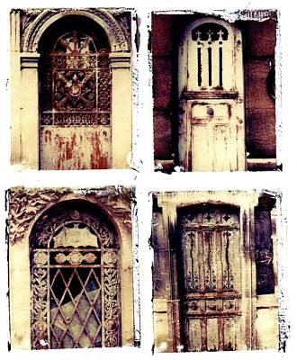 Paris Pere La Chaise Cemetery Photograph - Crypt Doors by Jane Linders