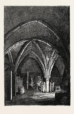 Crypt Under Gerards Hall, Basing Lane Art Print