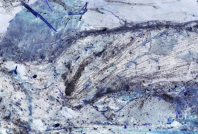 Photograph - Crystal And Blue Persuasions Abstract II by Lee Craig