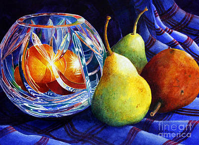 Painting - Crystal And Pears by Roger Rockefeller