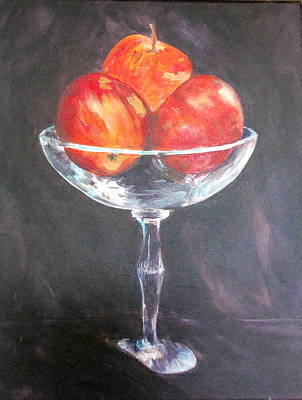 Painting - Crystal Apples by Maureen Pisano