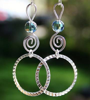 Jewelry - Crystal Ball Earrings by Kelly Nicodemus-Miller