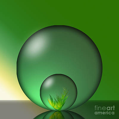 Photograph - Crystal Ball In A Crystal Ball by Shirley Mangini