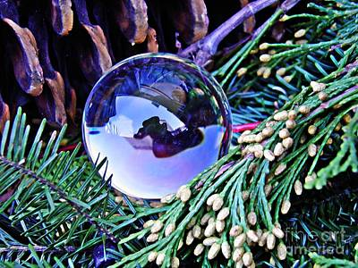 Pine Cones Photograph - Crystal Ball Project 65 by Sarah Loft