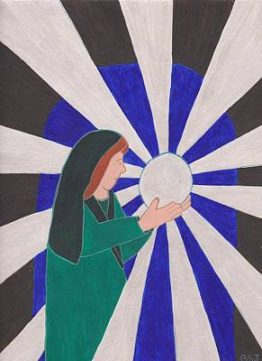 Painting - Crystal Ball Reader by Barbara St Jean