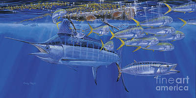 Striped Marlin Painting - Crystal Blue Off00100 by Carey Chen