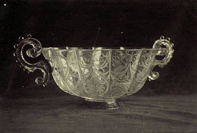 Louvre Drawing - Crystal Bowl Engraved With Scrolls, From The Louvre by Artokoloro