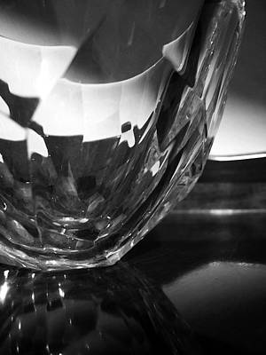 Photograph - Crystal Bowl In Sunlight 2 by Mary Bedy