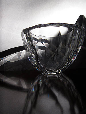 Photograph - Crystal Bowl In Sunlight 25 by Mary Bedy