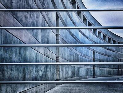 Crystal Bridges Museum Greytones Art Print by Gia Marie Houck