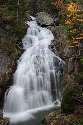 Waterfall Photograph - Crystal Cascade In Autumn by Jetson Nguyen