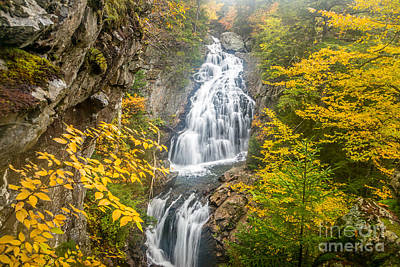 Photograph - Crystal Cascade In Autumn by Susan Cole Kelly