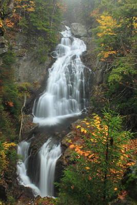 Photograph - Crystal Cascade Waterfall Mount Washington by John Burk