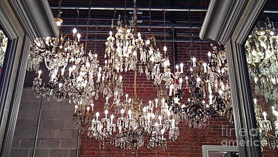 Photograph - Crystal Chandeliers by M West