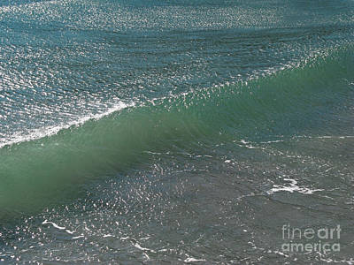 Abstract Beach Landscape Photograph - Crystal Clear Wave Movement by Kiril Stanchev