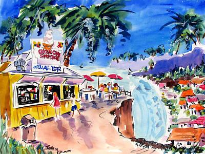Laguna Beach Painting - Crystal Cove 1964 by John Dunn