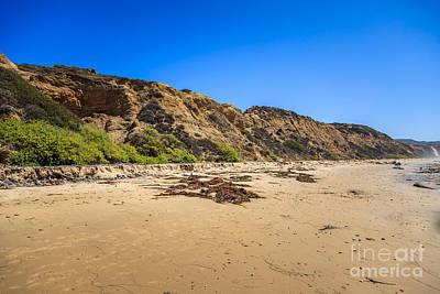Rusty Trucks - Crystal Cove Cliffs in Laguna Beach California by Paul Velgos