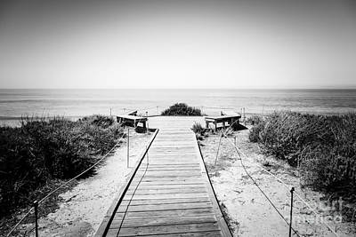 Outlook Photograph - Crystal Cove Overlook Black And White Picture by Paul Velgos