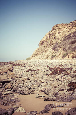 Crystal Cove State Park Cliff Picture Art Print