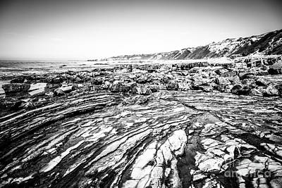 Crystal Cove Photograph - Crystal Cove Tide Pools In Black And White by Paul Velgos