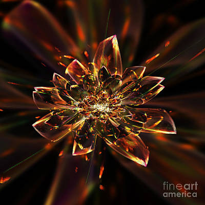 Abstract Digital Art Digital Art - Crystal Flower by Klara Acel
